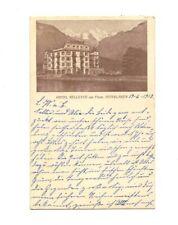 AK INTERLAKEN 1913 , Hotel Bellevue , gelaufen > Oldenburg
