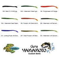 Yamamoto Worm 7-20-196 Pumpkin Gr Black Flake 4 Inch Kut Tail Soft Plastic Lures