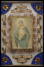 † IMMACULATE HEART of MARY MULTI RELIQUARY 14 RELICs SAINTS, VIRGIN, MARTYR †