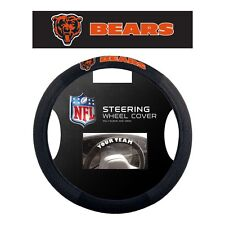 NFL POLY-SUEDE MESH STEERING WHEEL COVER CHICAGO BEARS