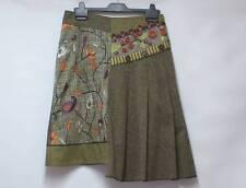 Designer BLEU BLANC ROUGE LAGENLOOK BOHO Herringbone Tweed Asymmetric Skirt 10