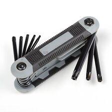 T9-T40 8in1 Folding Torx Star Key Bit Screwdriver Set Hand Tool