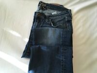 Lucky Brand Jeans Women's 10 30W Stark Sweet N Low Med Wash Distressed Mid Rise