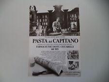 advertising Pubblicità 1982 DENTIFRICIO PASTA DEL CAPITANO