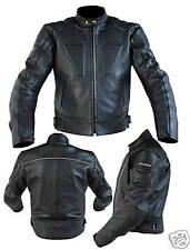 Nuovo Giacca Moto in Pelle  mod. 3160 Nero