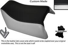 BLACK & WHITE CUSTOM FITS SUZUKI GSXR 1100 89-98 REAR SEAT COVER