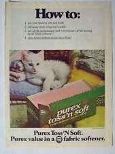 1978 Purex Laundry Fabric Softener Cute Kitten Magazine Print Advertisement Page