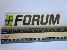 "6"" FORUM Black/Green Ski Snowboard Race Rack Ride DECAL STICKER - FREE SHIPPING"