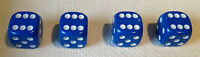 4 x Blue Dice Dust Valve Caps VW CAR BIKE 80's Novelty Fun Retro