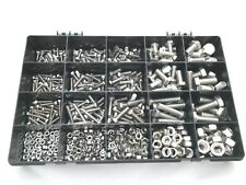 Stainless Steel Assorted Nuts and Bolts Kit M4 M5 M6 M8 M10 A2 Stainless 600 pcs