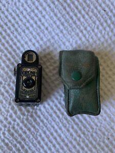 Coronet Midget Spy Camera Black With Leather Case