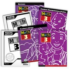 BJU Press- Math 3 Subject Kit - Grade 3