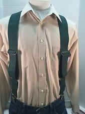 "New, Men's, Hunter Green, XXL, 2"", Adj. Side Clip Suspenders /Braces, Made n USA"