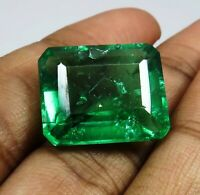 Natural 15.10 Ct Beautiful Emerald Shape Colombian Emerald Loose Gemstone