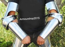 Medieval Full Length Steel Arm Guard: Knight Costume