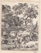 Originaldrucke (1800-1899) mit Landschaft und Radierung