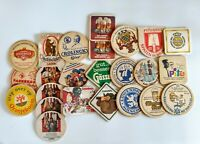 Lot of 24 Foreign Vintage Beer Coasters