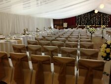 100 Hessian Chair Cover Sashes