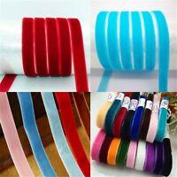 5 yards Soft Velvet Ribbon For Wedding Party Gift Decorative DIY hair bows