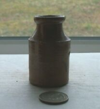 NICE VICTORIAN  POTTERY INK BOTTLE- 1860- 1880's period