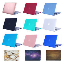 Rubberized hard Case Cover for Macbook Air Pro 13 11 12 15 inch +Keyboard Cover