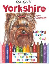 Yorkshire Art Coloring Book By Creator Artist L Royer Autographed #13 New