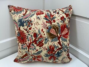 """Pottery Barn ~ Jordan Palampore Pillow and Pillow Cover~ 16"""" Square~ NEW"""