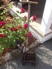 Antique Craftsman Lawn Sidewalk Edger Push Mower Rustic Old Vintage