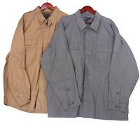 5.11 Tactical Series Men's Tan Lot of 2 Long Sleeve Button Up Shirts - Size 2XL