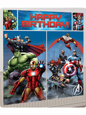 6ft Avengers Happy Birthday Party Giant Scene Setter Banner Decoration