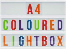 Locomocean A4 Mesa De Luz (caja blanca, letras de color) y baterías, cine de alimentación USB