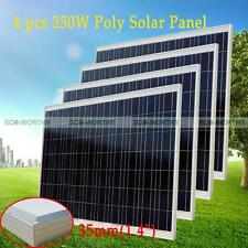 1KW 1000W 4x 250W Solar Panel for off Grid / Gird Tie Solar System Power Charge