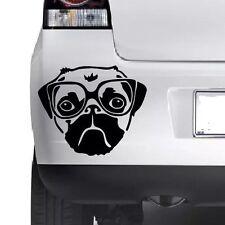 PUG DOG Funny  Cute Car Window Bumper Wall JDM  VAG Novelty Vinyl Decal Sticker