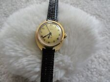 Made in West Germany Timex Electric Ladies Vintage Watch - Black Leather Band