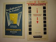 STEREOCARTE BRUGUIERE CAUTERETS LA VILLE  N° 2864.2