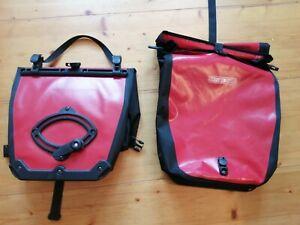 2 Stück Ortlieb Fahrradtaschen Radtaschen - Paar, Rot/Schwarz waterproof classic