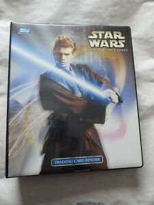 STAR WARS ATTACK OF THE CLONES TOPPS WIDEVISION TRADING SET 80 CARDS MINT-BINDER