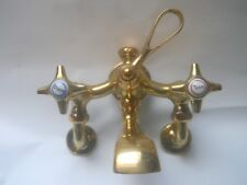 antique brass bathroom mixer taps