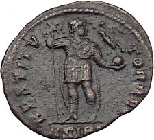 Valens  Ancient Roman Coin Labarum Chi-Rho Chist monogram Victory  i29879
