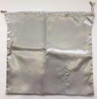 "Giuseppe Zanotti Silver Silky Dust Bag Made In Italy 16"" x 15"" or 40 x 38 cm"