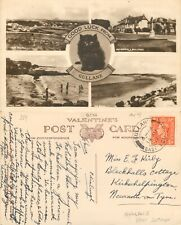 s11970 Good Luck from, Gullane postcard  1947 stamp *COMBINED SHIPPING*