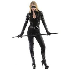 Adult Women's Green Arrow DC Comics Black Canary Halloween Costume Jacket Pants