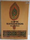 Coptic Textile Designs. M. Gerspach (1975) Paperback. Illustrations