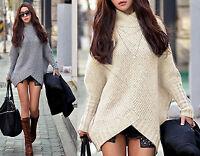 Neu Japan Style Pullover Kimono Poncho Fledermausärmel Cardigan S/M farbwahl 423
