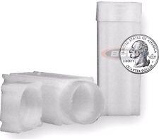 100 Quarter Coin Square Tubes Lock Cap CoinSafe Stackable Silver Liberty