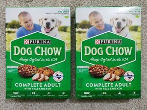 Purina Dog Chow Complete Adult Food Lot Of 2 Boxes 16 Oz Each Health Smart