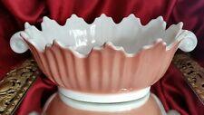 Vintage Fitz & Floyd White & Peach Large Shell Bowl Seashell