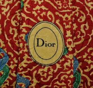 Red Abstract Venetian Masks DIOR Silk Tie