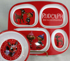 Rudolph Red Nosed Reindeer dinnerware plate bowl New melamine Hermey Tv