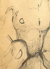 Vintage abstract ink painting